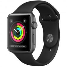 Умные часы Apple Watch Series 3 42mm MTF32RU/A Aluminum Case with Sport Band, черный