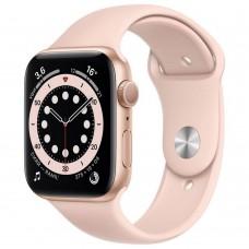 Умные часы Apple Watch Series 6 GPS 44mm Aluminum Gold Case with Sport Pink Band M00E3RU/A