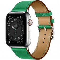 Часы Apple Watch Hermès Series 6 GPS + Cellular 44mm Silver Stainless Steel Case with Single Tour (Bambou)