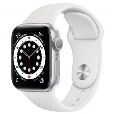 Умные часы Apple Watch Series 6 GPS 40mm Aluminum Silver Case with Sport White Band MG283RU/A