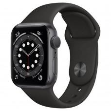 Умные часы Apple Watch Series 6 GPS 40mm Aluminum Case with Sport Band Black MG133RU/A