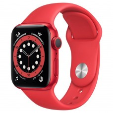 Умные часы Apple Watch Series 6 GPS 40mm Aluminum Case with Sport Band Red M00A3RU/A
