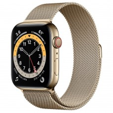 Часы Apple Watch Series 6 GPS + Cellular 44mm Gold Stainless Steel Case with Milanese Loop (Gold)