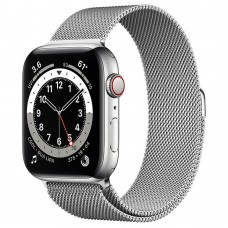 Часы Apple Watch Series 6 GPS + Cellular 44mm Silver Stainless Steel Case with Milanese Loop (Silver)