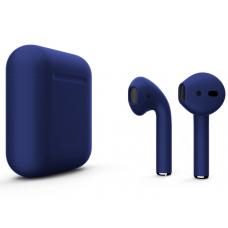 Наушники Apple AirPods 2 Color Blue (синий матовый) (без беспроводной зарядки чехла) MV7N2