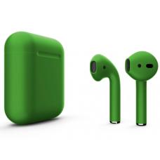 Наушники Apple AirPods 2 Color Green (Зеленый матовый) (без беспроводной зарядки чехла) MV7N2