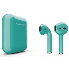 Наушники Apple AirPods 2 Color Azure (Лазурный глянцевый) (без беспроводной зарядки чехла) MV7N2