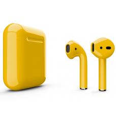 Наушники Apple AirPods 2 Color Yellow (Желтый глянцевый) (без беспроводной зарядки чехла) MV7N2