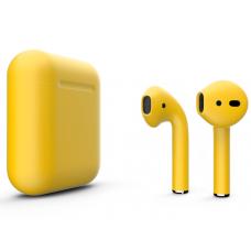 Наушники Apple AirPods 2 Color Yellow (Желтый матовый) (без беспроводной зарядки чехла) MV7N2