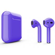 Наушники Apple AirPods 2 Color Purple (Фиолетовый глянцевый) (без беспроводной зарядки чехла) MV7N2