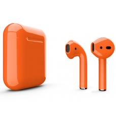 Наушники Apple AirPods 2 Color Orange (Оранжевый глянцевый) (без беспроводной зарядки чехла) MV7N2