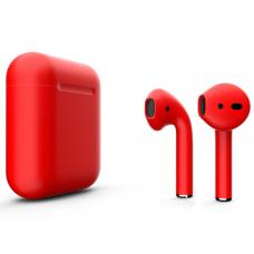 Наушники Apple AirPods 2 Color Red (Красный матовый) (без беспроводной зарядки чехла) MV7N2