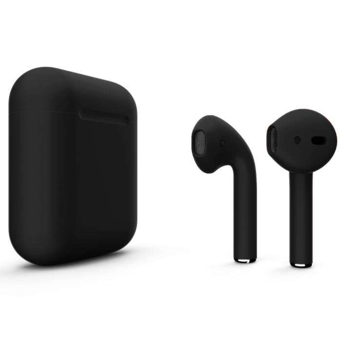 Наушники Apple AirPods 2 Color Black (Черный матовый) (без беспроводной зарядки чехла) MV7N2