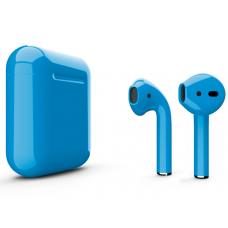 Наушники Apple AirPods 2 Color Blue (Голубой глянцевый) (без беспроводной зарядки чехла) MV7N2