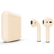 Наушники Apple AirPods 2 Color Beige (Бежевый глянцевый) (без беспроводной зарядки чехла) MV7N2