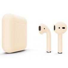 Наушники Apple AirPods 2 Color Beige (Бежевый матовый) (без беспроводной зарядки чехла) MV7N2