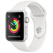 Умные часы Apple Watch Series 3 42mm Aluminum Case with Sport Band Silver MTF22RU/A серебристый/белый