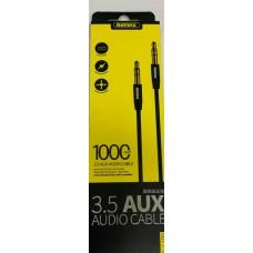 Кабель Remax 3.5 AUX Audio Cable L100 1 м Black