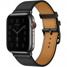 Часы Apple Watch Hermès Series 6 GPS + Cellular 44mm Space Black Stainless Steel Case with Single Tour